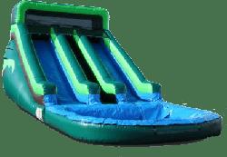 Dual Lane Water Slide-Tropical