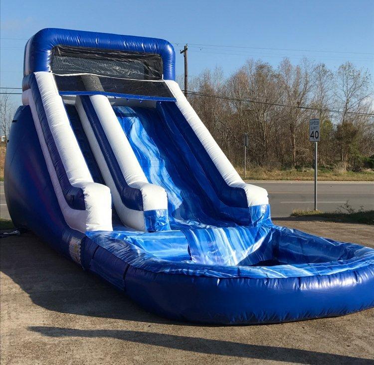 15 ft Ocean Blue Slide