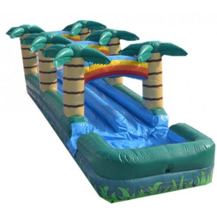 Tropical 2 Lane Slip 'N Slide