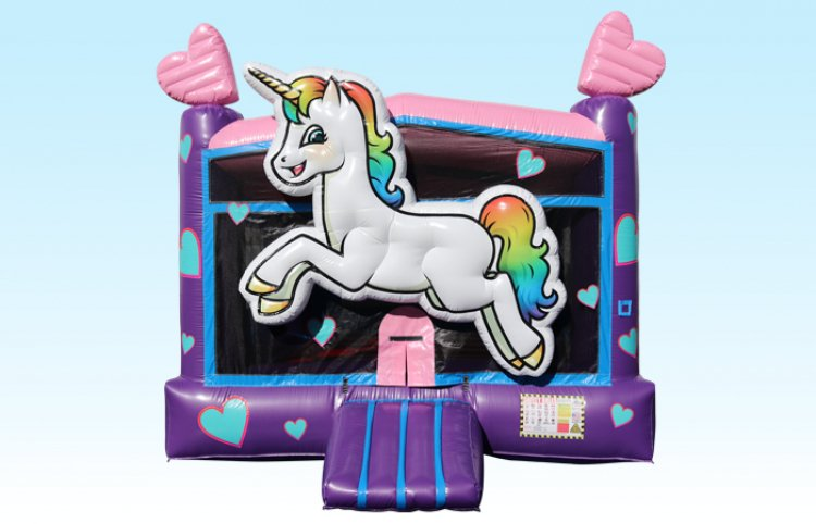 Unicorn Bouncer with Hearts